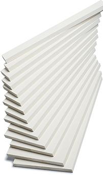 Moulures de contour - S4S (bois jointé, apprêté blanc)