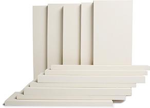 Profiles (bois jointé, apprêté blanc) - Déclin