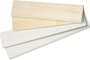 Profiles (bois jointé, apprêté blanc) - Profilés E&CB (V-joint & double V-joint)